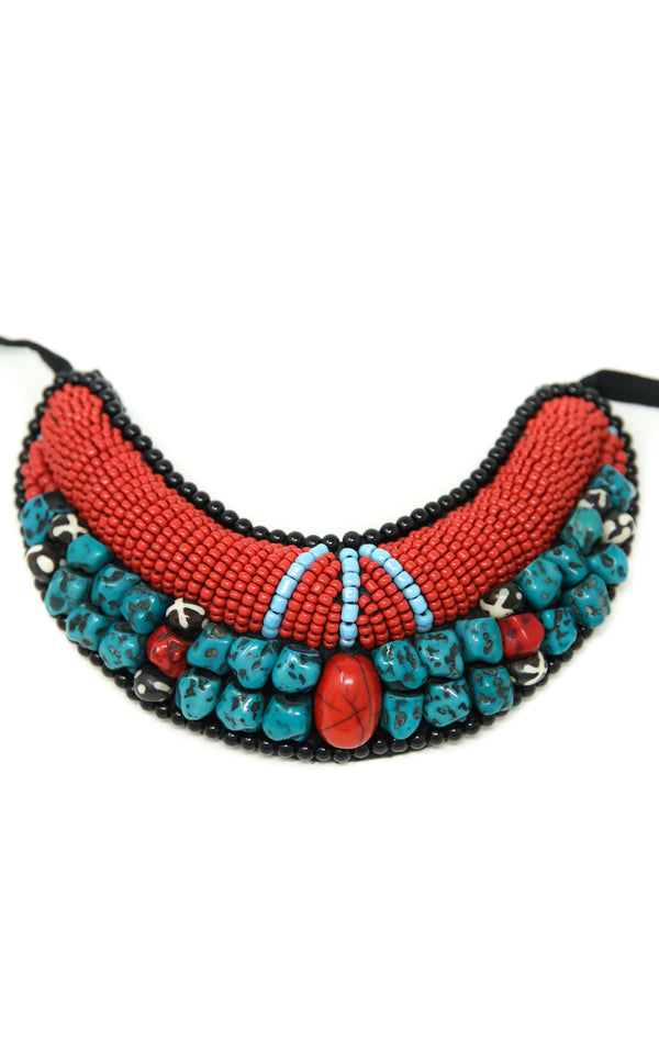 Small Beaded Tibetan Neckpiece, The Little Tibet