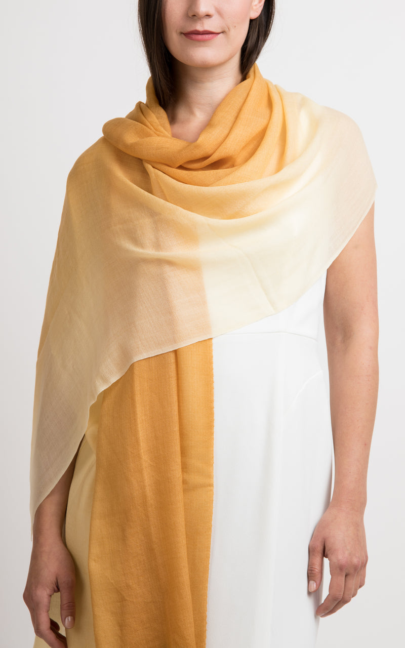 Ombre design fine cashmere scarf - RP5, The Little Tibet