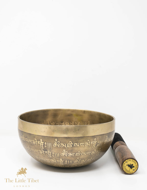 Vajra Thunder bolt Hand hammered Singing Bowl, Meditation and healing bowl - T08