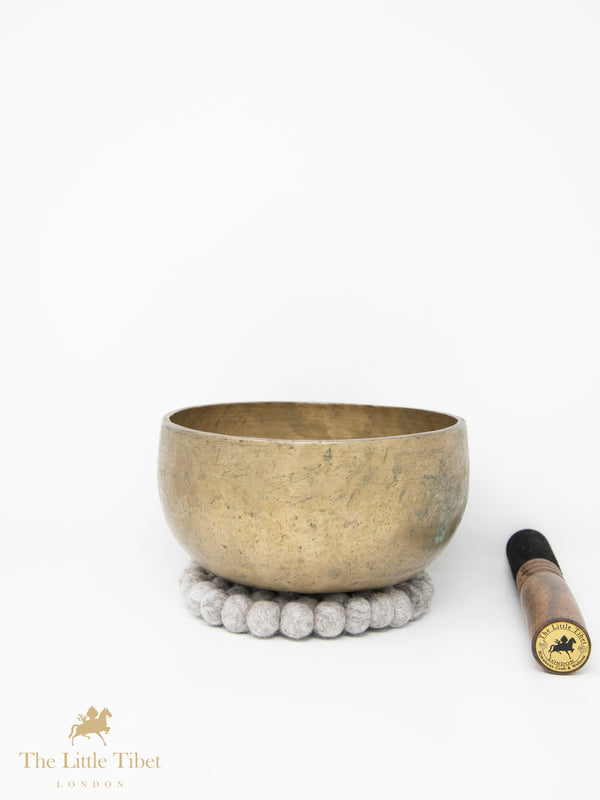 Antique Tibetan Singing Bowl-Healing Bowl-Himalayan Bowl for Meditation-ATQ16-The Little Tibet