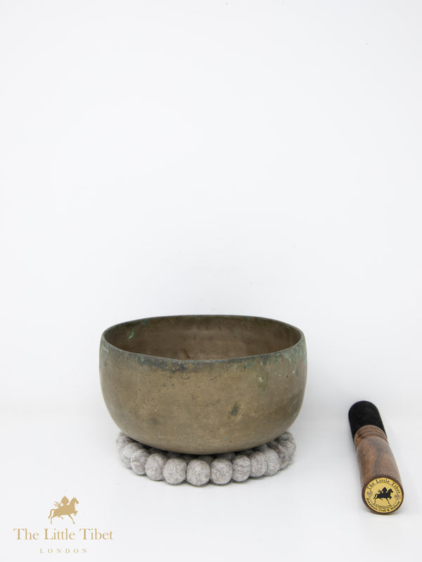 Antique Tibetan Singing Bowl-Healing Bowl-Himalayan Bowl for Meditation-ATQ17-The Little Tibet