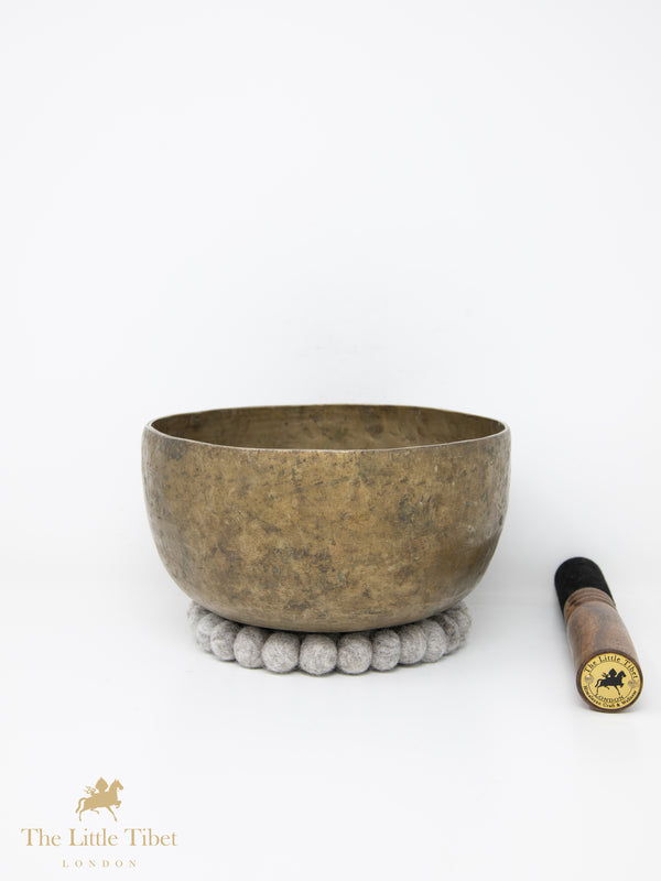 Antique Tibetan Singing Bowl-Healing Bowl-Himalayan Bowl for Meditation-ATQ26-The Little Tibet