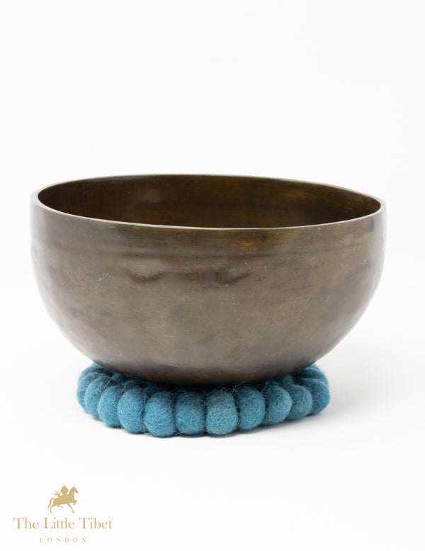 Slate Blue Felt Ball Cushion for Singing Bowls-The Little Tibet