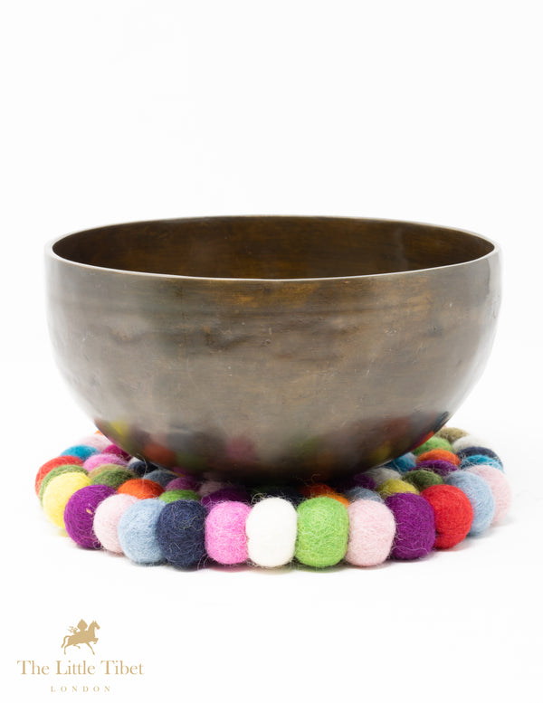 Multicolour Felt Ball Cushion for Singing Bowls-The Little Tibet