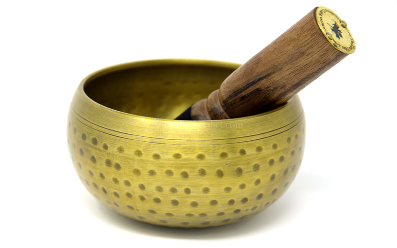 large brass singing bowl sound therapy chakra realigning himalayan instrument