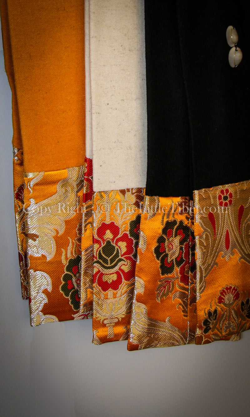 Lhasa Wool Scarf with Silk edges