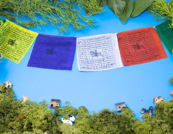 Medium - Tibetan Lungta Prayer Flags/WindHorse Flag - The Little Tibet