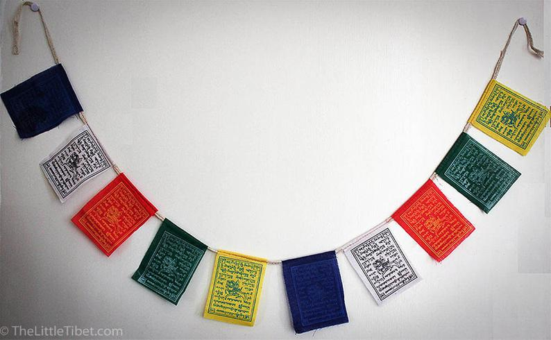Small - Tibetan Lungta Prayer Flags/WindHorse Flag
