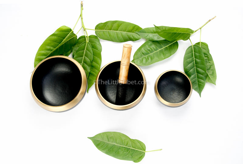 small medium large brass singing bowls sound therapy chakra realigning himalayan instrument