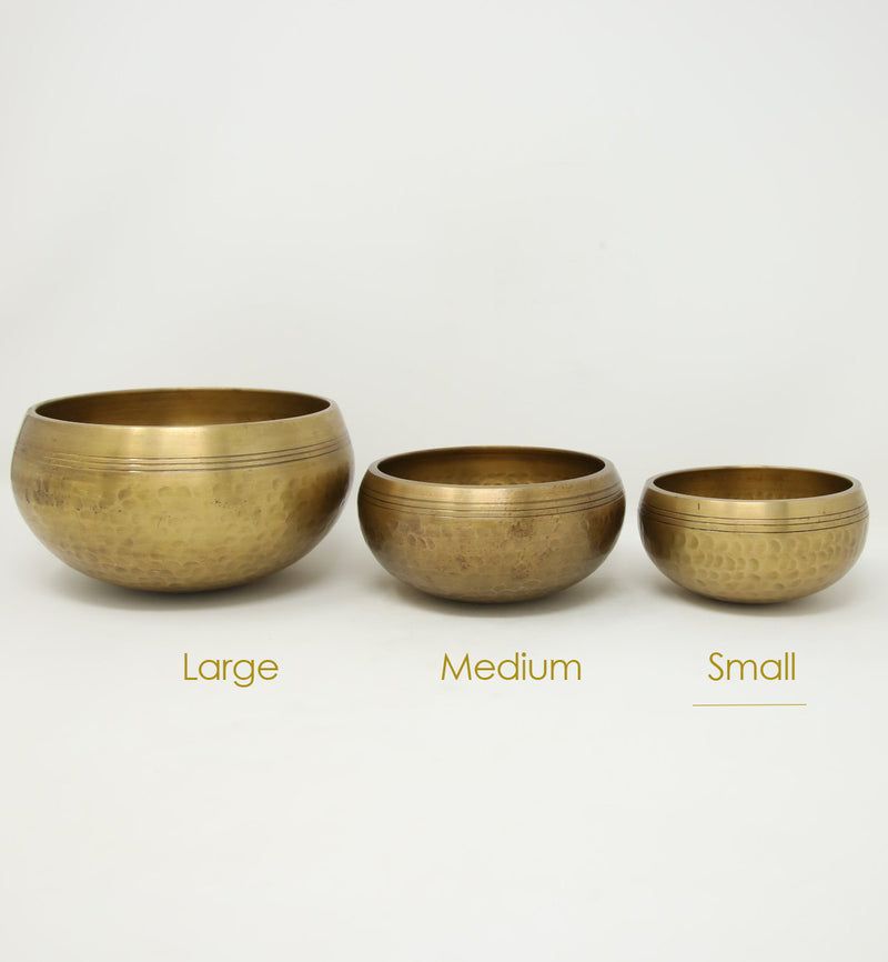 Small, portable size Tibetan Brass Singing Bowl- yoga class and meditation bowls