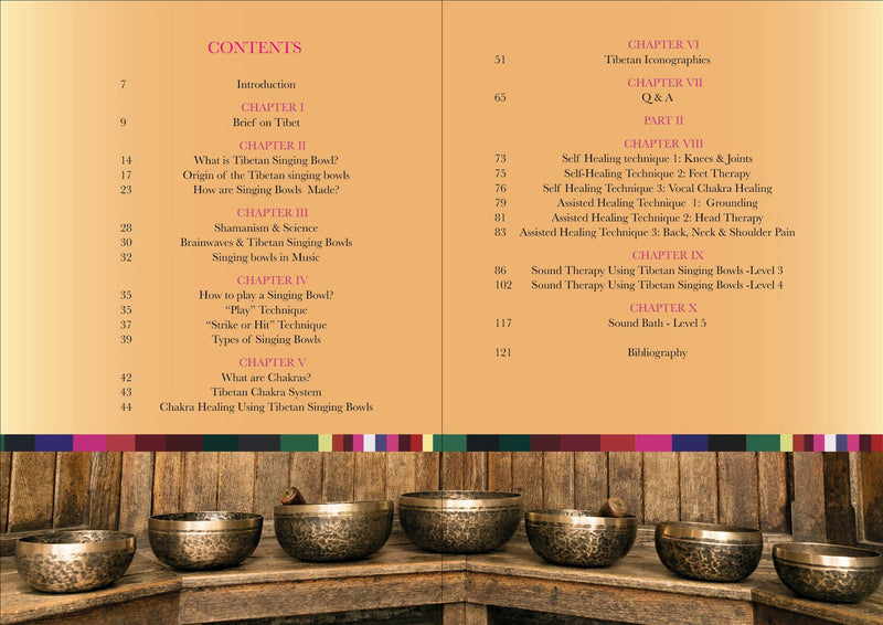 book preview of The Tibetan Singing Bowl Book Guide for using singing bowls in meditation, yoga, reiki healing, sound therapy, chakra healing, The  Little Tibet