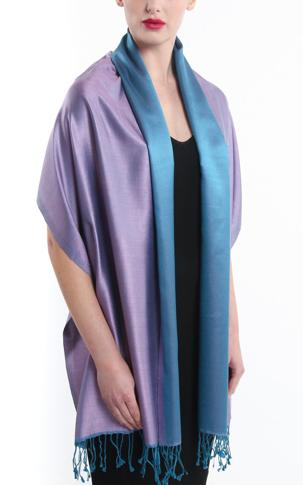 Paula Purple Silk Scarf - TTM271