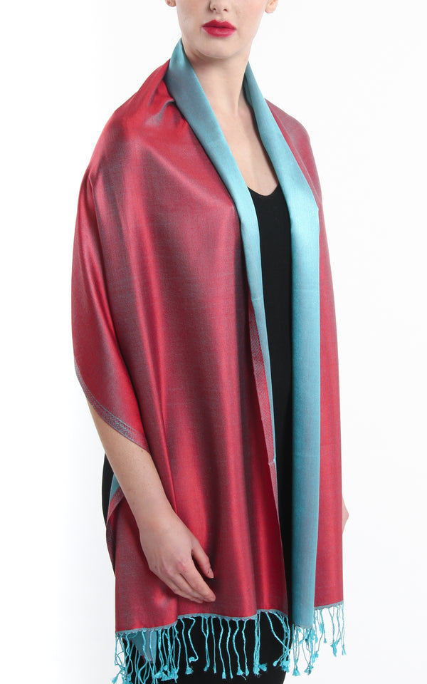 Annette Red Silk Scarf - TTM281