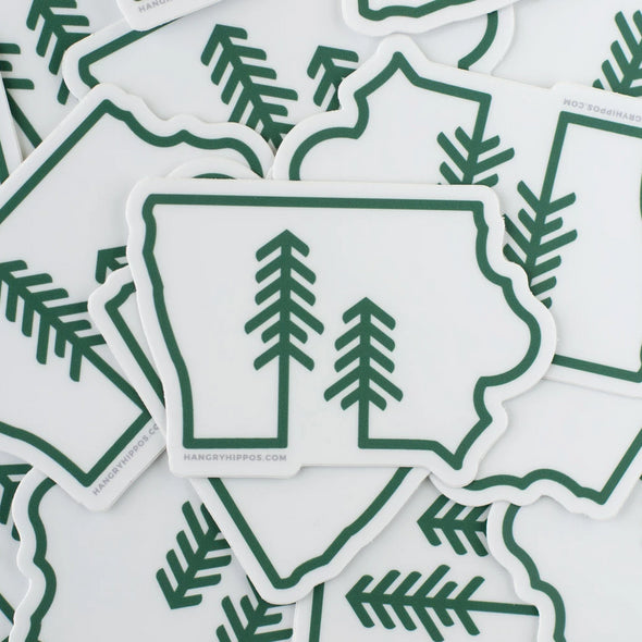 Iowa Forest + Trees Sticker