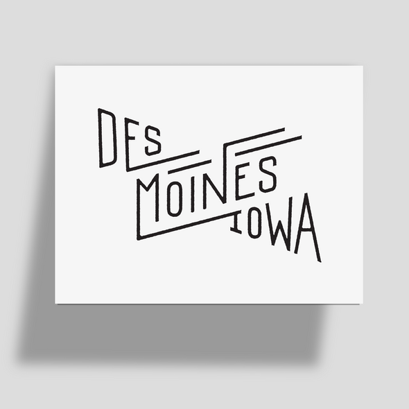 Des Moines Greeting Card