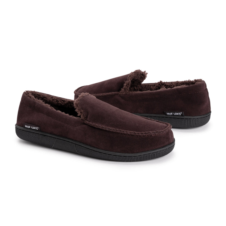 Men's Faux Suede Moccasin Slippers - MUK LUKS