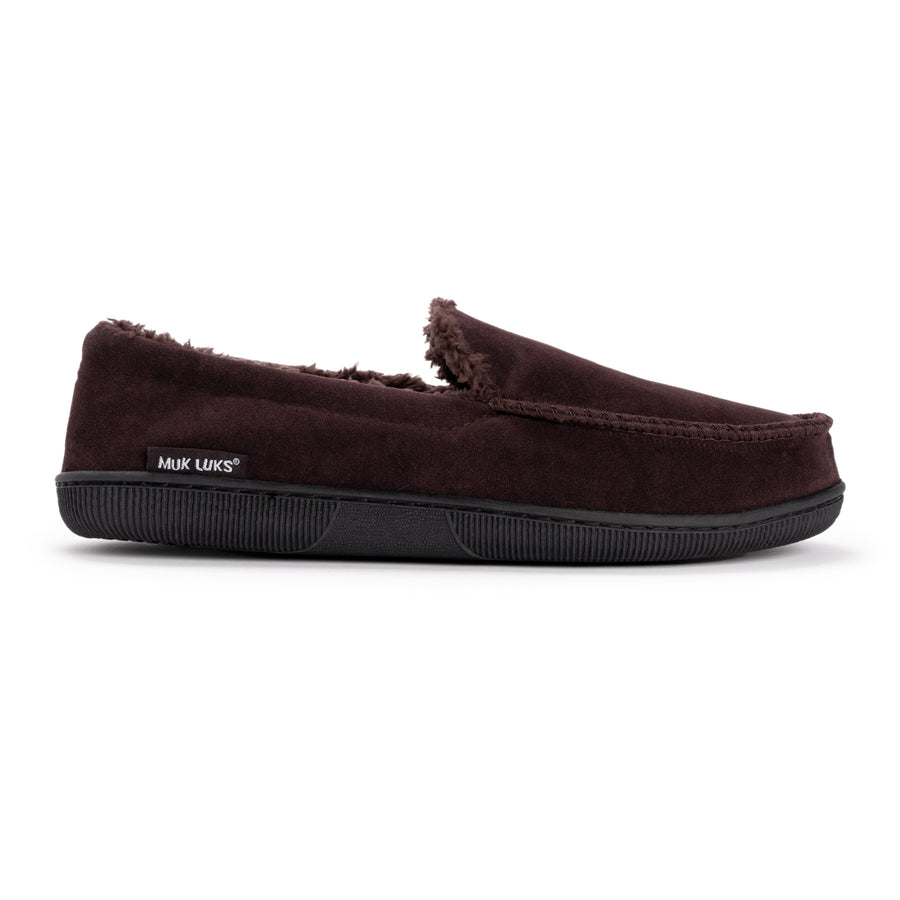 b0fc511eb9db7c ... Men's Faux Suede Moccasin Slippers - MUK ...