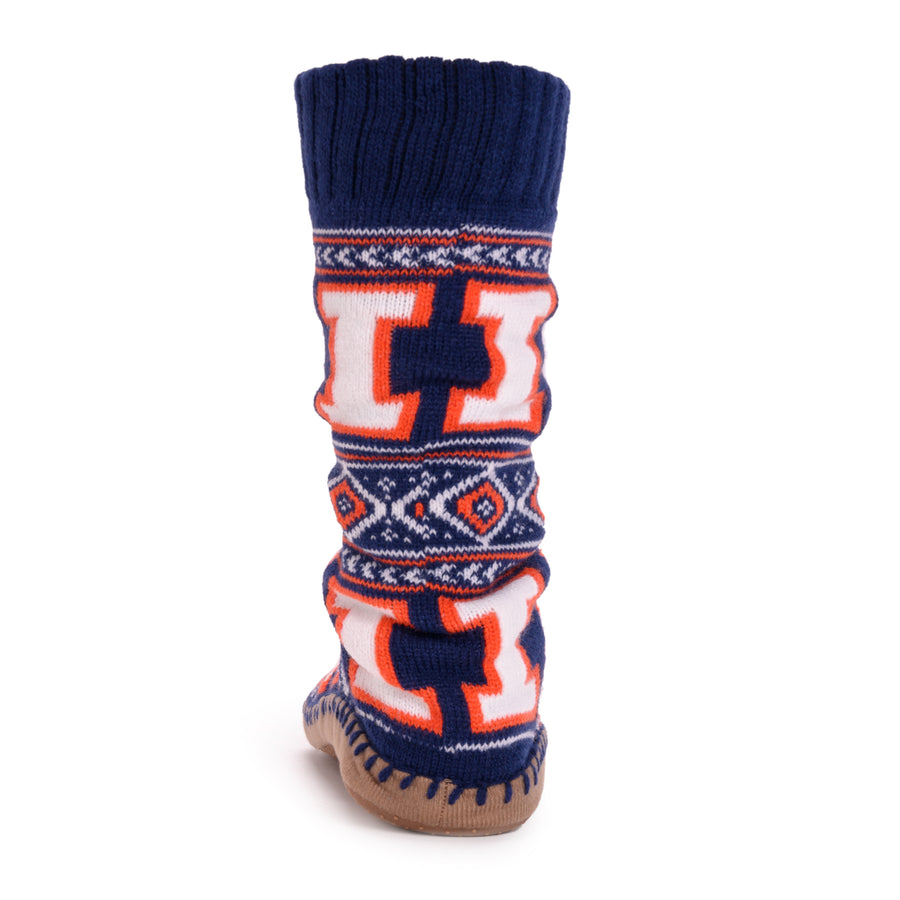 Women's Game Day Slipper Socks - Illinois - MUK LUKS