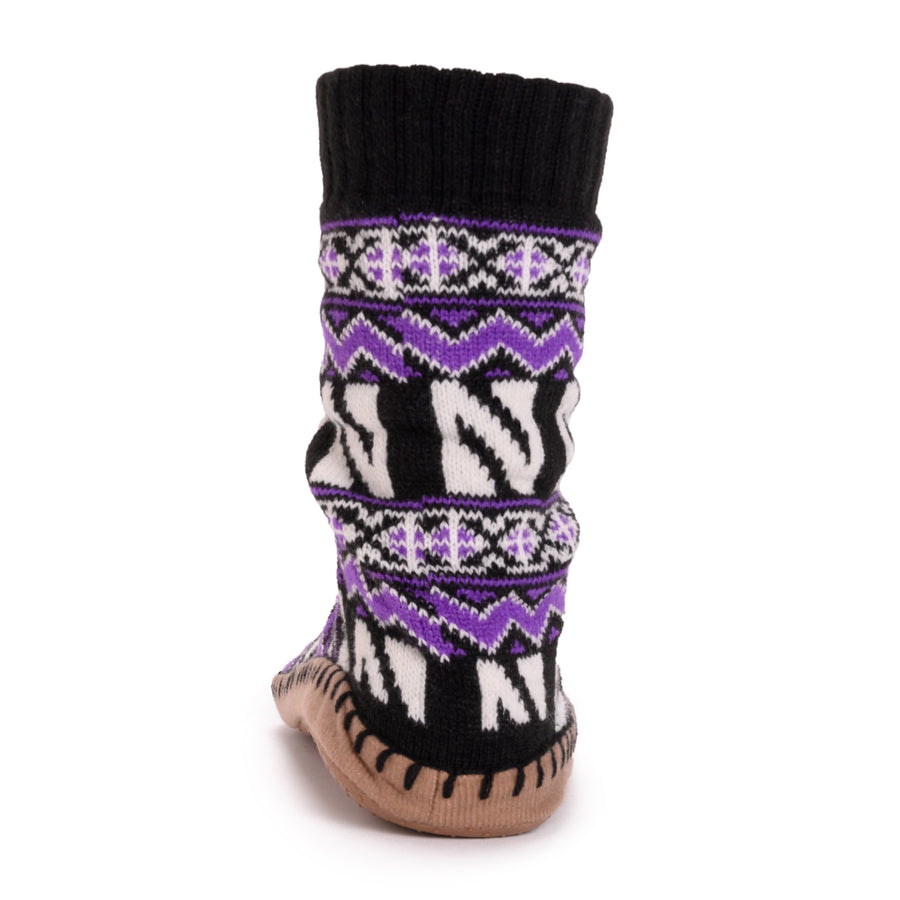 Women's Game Day Slipper Socks - Northwestern - MUK LUKS