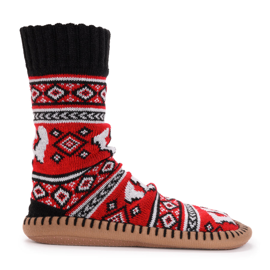 Women's Game Day Slipper Socks - Wisconsin - MUK LUKS