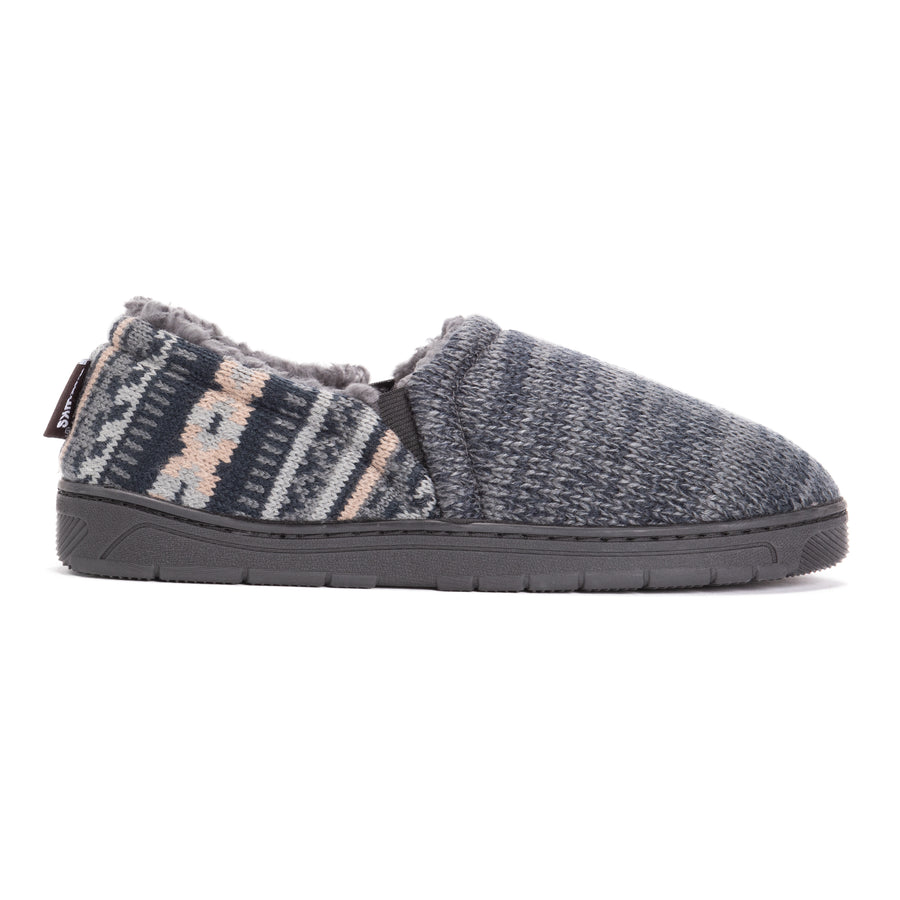Men's Christopher Slippers - Grey Marl Pattern - MUK LUKS