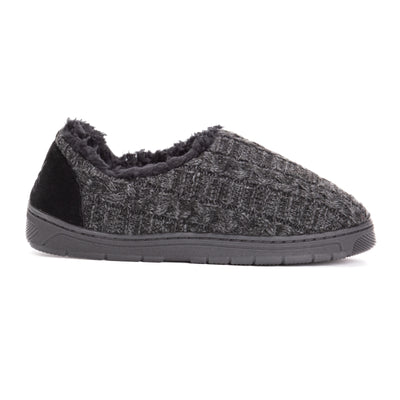 Men's John Slippers - Ebony/Dark Grey - MUK LUKS