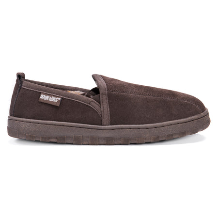 Eric - Men's Double Gore Printed Berber Suede Slip on - MUK LUKS