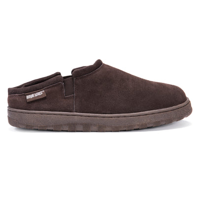 Matt - Men's Printed Berber Suede Clog - Chocolate - MUK LUKS