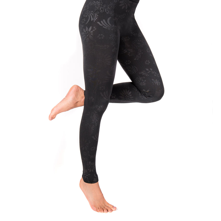 Women's 1-Pair Embossed Leggings - MUK LUKS