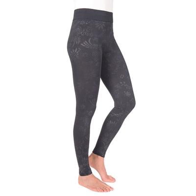 Women's 1-Pair Fleece Lined Embossed Leggings - MUK LUKS