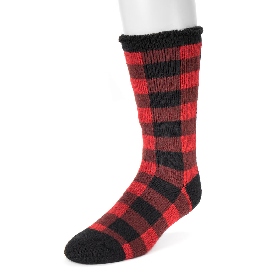 Men's 1-Pair Heat Retainer Socks - Buffalo Plaid - MUK LUKS