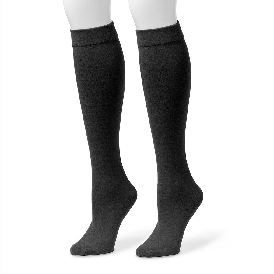 Women's Fleece Lined 2-Pair Pack Knee High Socks - MUK LUKS