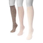 Women's 3 Pair Pack Diamond Knee High Socks - MUK LUKS