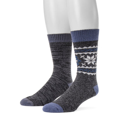 Men's 2-Pair Fluffy Yarn Boot Socks - MUK LUKS