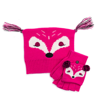 Kid's Zoo Baby Hat and Flip Mitten Set - MUK LUKS