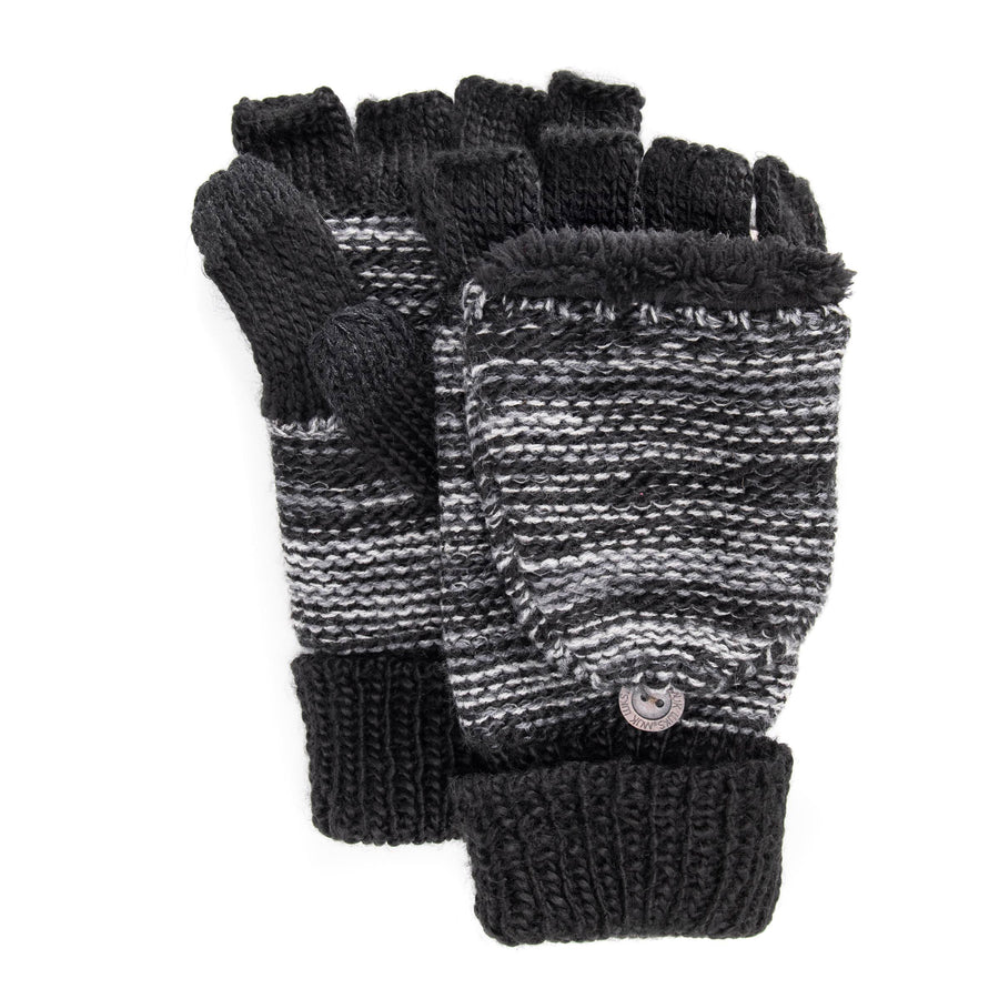 Men's Fingerless Flip Mittens - MUK LUKS