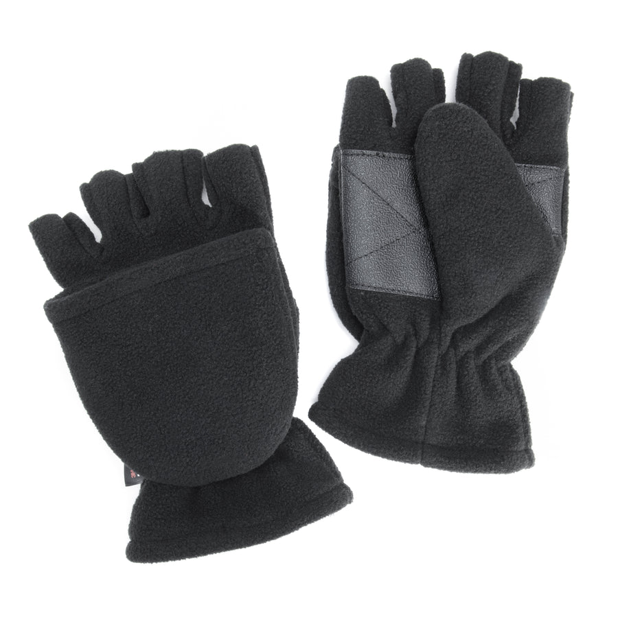 Men's Waterproof Fleece Flip Mittens - MUK LUKS