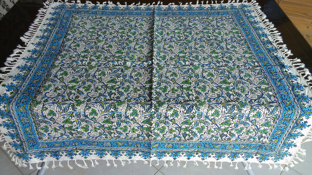 Persian Hand Printed Tablecloth   97x97 Cm