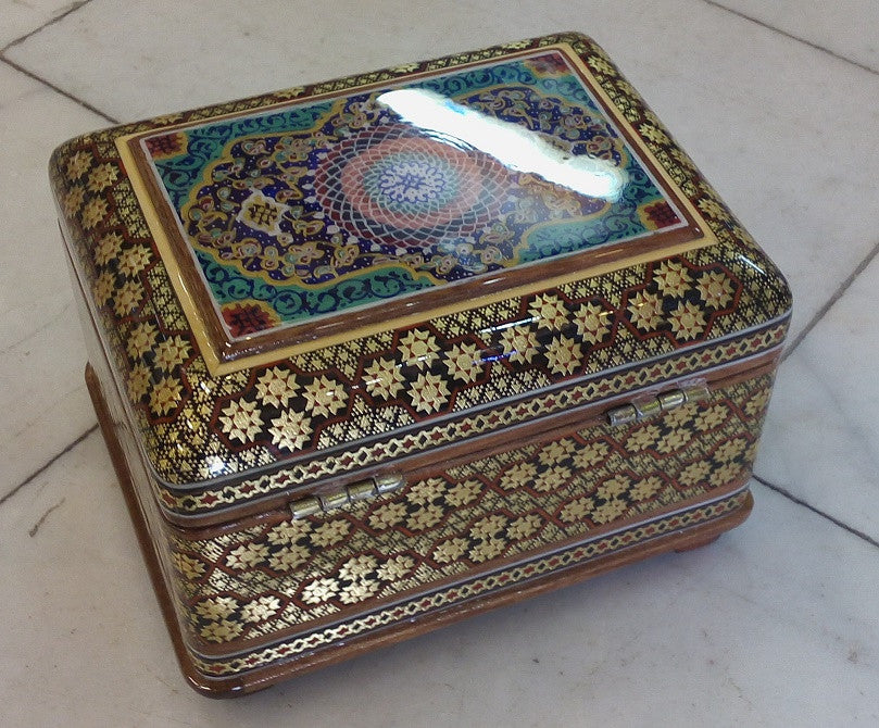 Gorgeous Persian Khatam Inlaid Jewelry Box Persiana Shop