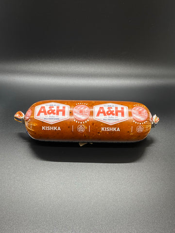 A & H UNCURED BOURBON APPLE BEEF SAUSAGE 12 OZ.