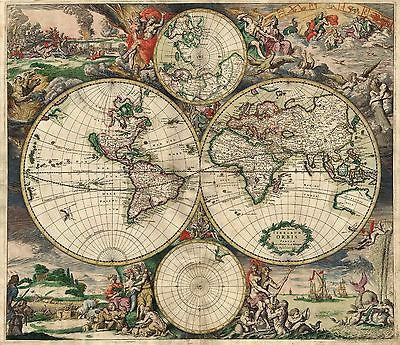 1689 gerard van schagen vintage world map poster multiple sizes 1689 gerard van schagen vintage world map poster multiple sizes gumiabroncs Images