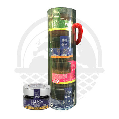 "COFFRET TUBE SÉDUCTION CONDIMENTS FOIE GRAS 4X30G ""PRISCA"""
