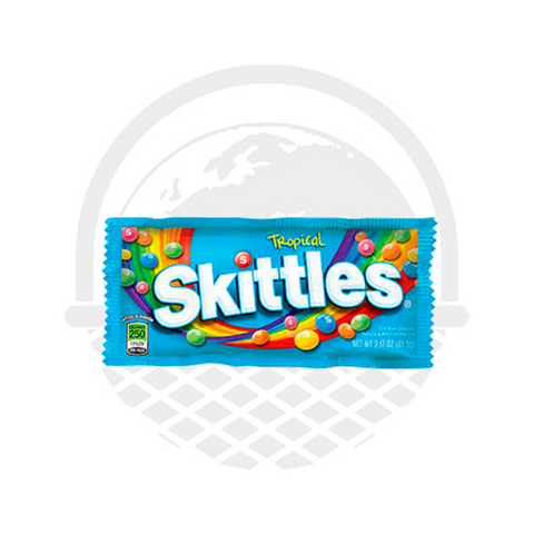 Bonbons Skittles tropical fruits tropicaux 62G