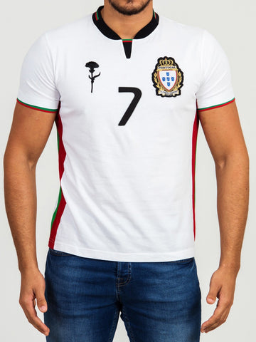 T SHIRT ADEPTOS 7 BLANC HOMME TAILLE S CR7 BY VIP