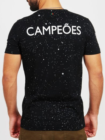 T-SHIRT BY VIP CAMPEOES NOIR HOMME TAILLE S