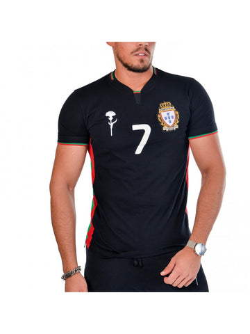 T SHIRT ADEPTOS 7 BLANC HOMME TAILLE S CR7 BY VIP - Panier du Monde