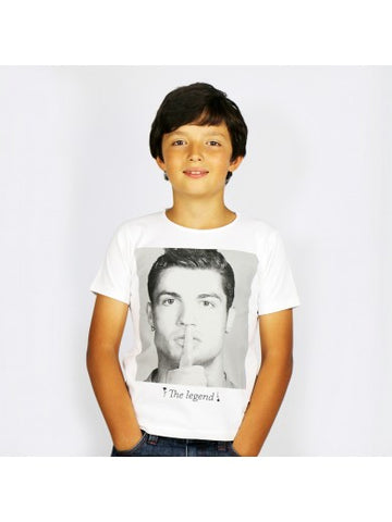 T-SHIRT CR7 BY VIP THE LEGEND BLANC ENFANT 8 ANS