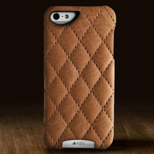 Grip Matelassé - Quilted Leather iPhone SE Case - Vajacases