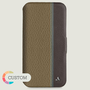 Customizable Folio LP iPhone 11 Pro Max leather case - Vajacases