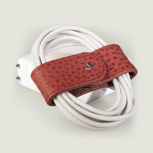 BOWS LEATHER CORD ORGANIZER